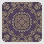 Kaleidoscope Kreations Purple & Gold 3 Square Sticker
