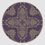 Kaleidoscope Kreations Purple & Gold 4 Classic Round Sticker