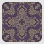 Kaleidoscope Kreations Purple & Gold 4 Square Sticker