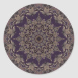 Kaleidoscope Kreations Purple Tapestry 5 Classic Round Sticker