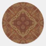 Kaleidoscope Kreations Rust Tapestry 1 Classic Round Sticker