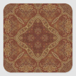 Kaleidoscope Kreations Rust Tapestry 1 Square Sticker
