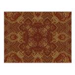 Kaleidoscope Kreations Rust Tapestry 2 Postcard