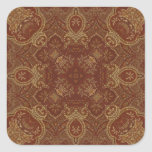 Kaleidoscope Kreations Rust Tapestry 2 Square Sticker
