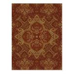 Kaleidoscope Kreations Rust Tapestry 3 Postcard