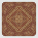 Kaleidoscope Kreations Rust Tapestry 4 Square Sticker