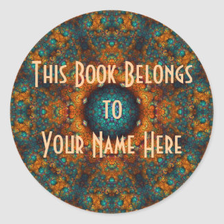 Kaleidoscope Kreations Saracen Gold  Bookplates Round Stickers