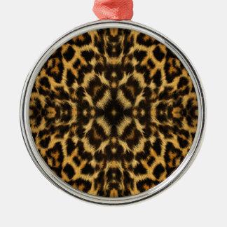 Kaleidoscope Leopard Fur Pattern Metal Ornament