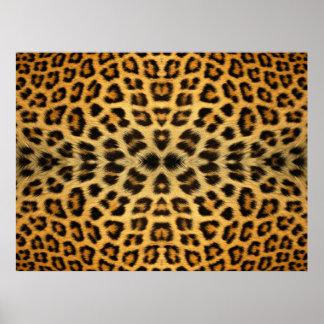 Kaleidoscope Leopard Fur Pattern poster
