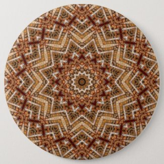 Kaleidoscope Light Brown Star Button