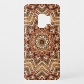 Kaleidoscope Light Brown Star Case-Mate Samsung Galaxy S9 Case