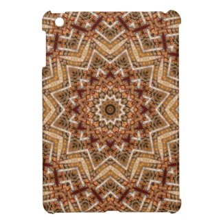 Kaleidoscope Light Brown Star Cover For The iPad Mini