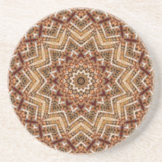 Kaleidoscope Light Brown Star Drink Coaster