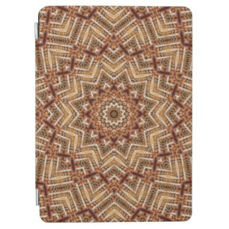 Kaleidoscope Light Brown Star iPad Air Cover