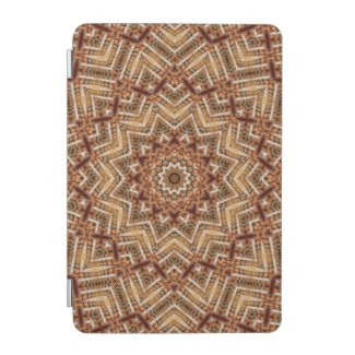 Kaleidoscope Light Brown Star iPad Mini Cover