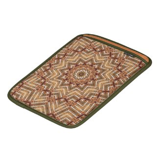 Kaleidoscope Light Brown Star iPad Sleeve