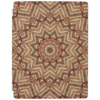 Kaleidoscope Light Brown Star iPad Smart Cover