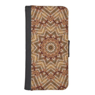 Kaleidoscope Light Brown Star iPhone SE/5/5s Wallet