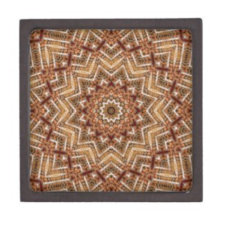 Kaleidoscope Light Brown Star Keepsake Box