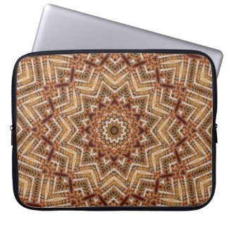 Kaleidoscope Light Brown Star Laptop Sleeve