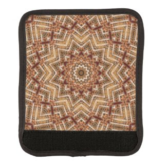 Kaleidoscope Light Brown Star Luggage Handle Wrap