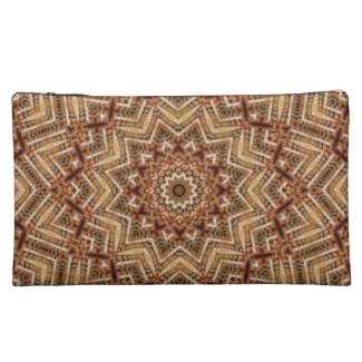 Kaleidoscope Light Brown Star Makeup Bag
