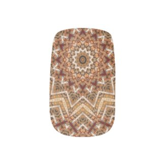 Kaleidoscope Light Brown Star Minx Nail Art