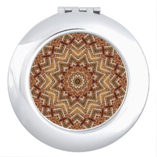 Kaleidoscope Light Brown Star Mirror For Makeup