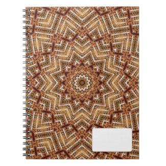 Kaleidoscope Light Brown Star Notebook