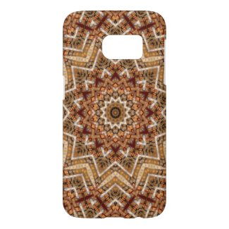 Kaleidoscope Light Brown Star Samsung Galaxy S7 Case