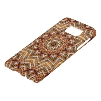 Kaleidoscope Light Brown Star Samsung Galaxy S7 Case