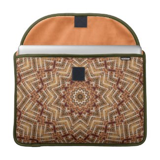 Kaleidoscope Light Brown Star Sleeve For MacBooks