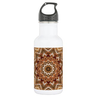 Kaleidoscope Light Brown Star Stainless Steel Water Bottle