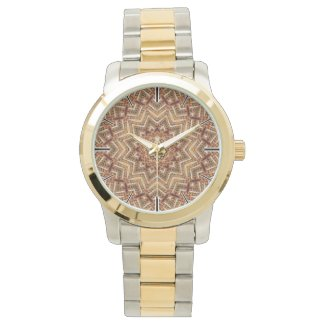 Kaleidoscope Light Brown Star Watch