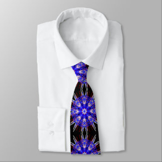 kaleidoscope mandala art black red white blue tie