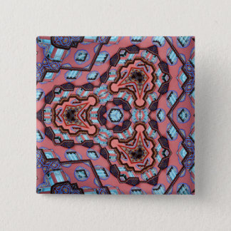 Kaleidoscope Mandala in Slovenia: Escher Pattern Pinback Button