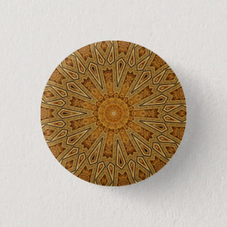 Kaleidoscope Mandala in Vienna: Pattern 221.4 Pinback Button