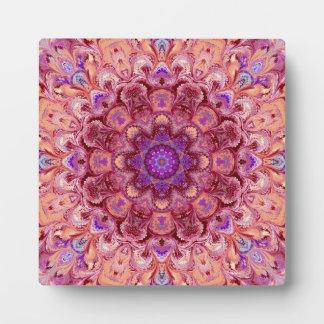 Kaleidoscope Mandala Photo Plaque