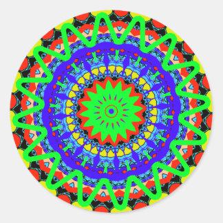 Kaleidoscope Mandalas Classic Round Sticker
