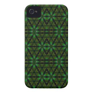 Kaleidoscope Meets Spirograph Green Theme iPhone 4 Case