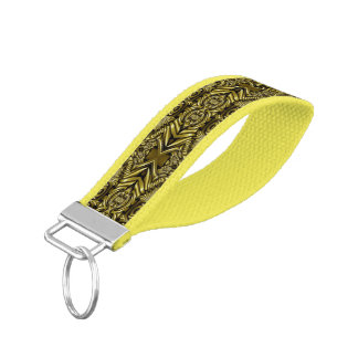 Kaleidoscope Mini Fractal V + your ideas Wrist Keychain