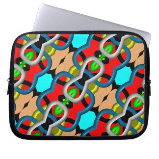 Kaleidoscope multicolored Pattern Computer Sleeve