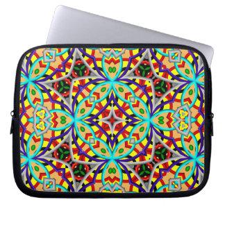 Kaleidoscope multicolored Pattern Laptop Sleeve