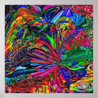 Kaleidoscope of Butterflies Poster