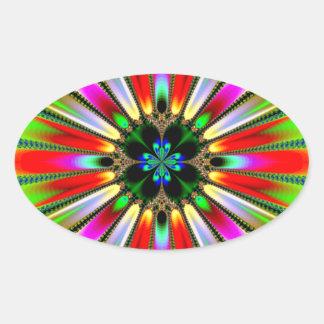 Kaleidoscope of Color Design Oval Sticker