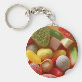 kaleidoscope of colors basic round button keychain