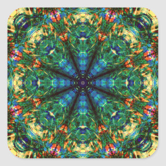 Kaleidoscope of Colors Square Sticker