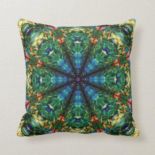 Kaleidoscope of Colors Throw Pillow