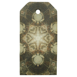 Kaleidoscope of Dowtown Kansas City Library Wooden Gift Tags