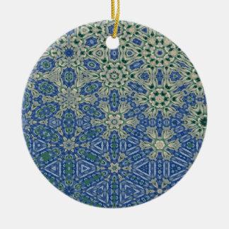 Kaleidoscope of Ribbons Ceramic Ornament
